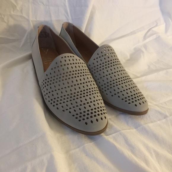 11ea746af26 Franco Sarto Shoes - NWOT Franco Sarto Faryn Loafers Gray Laser Cut